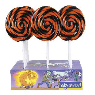 Babydélice Sucette Spiral Colours Noir & Orange Baby Sweet Ø 12 cm